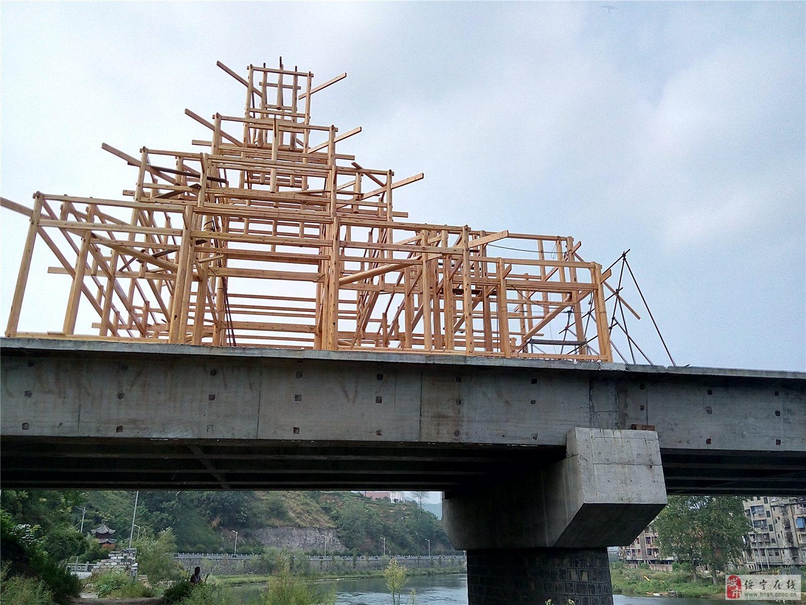 绥宁县民族风雨桥木结构建筑进度如何?