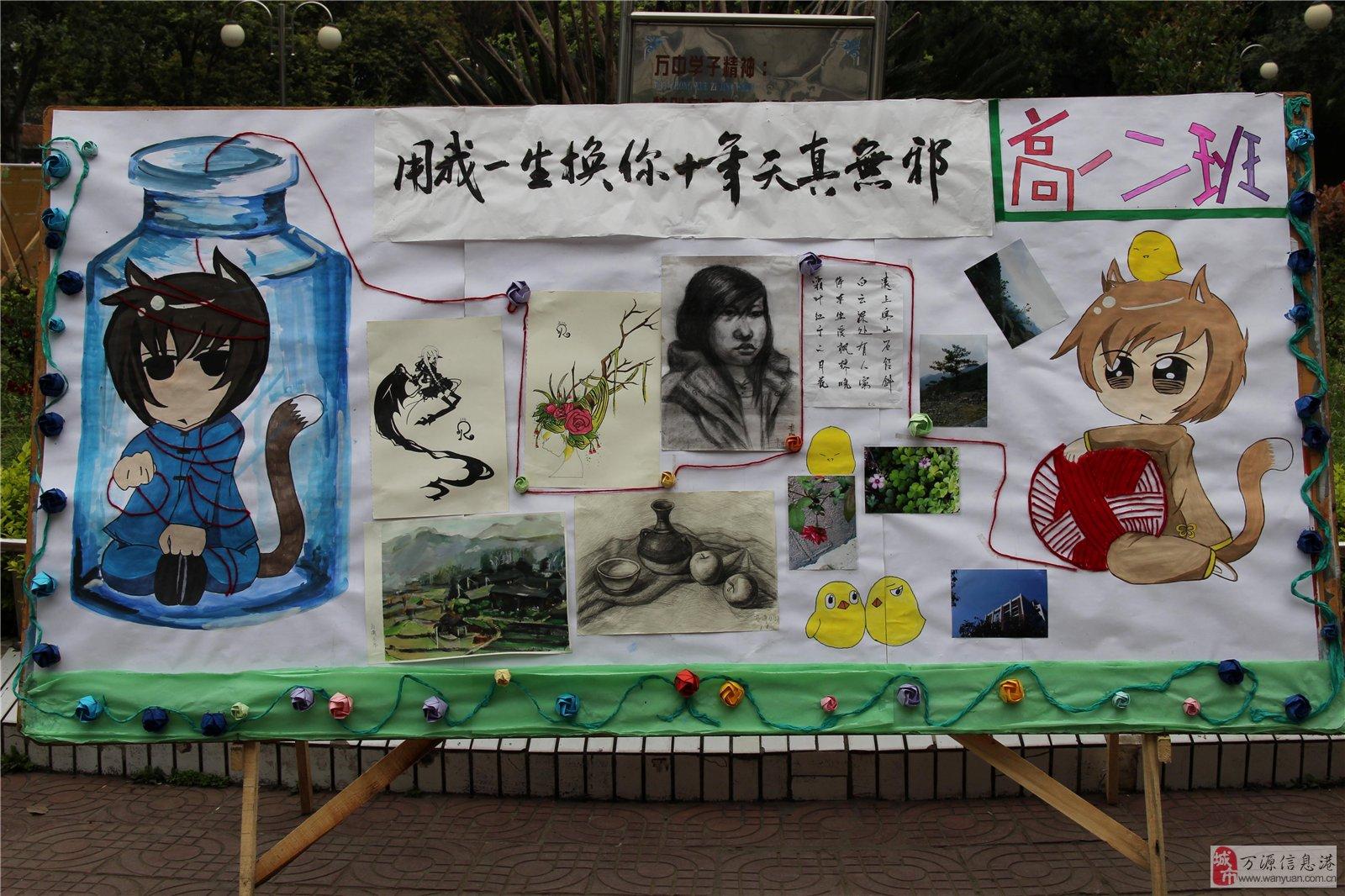 万源中学第12届科技艺术节展板(高一)