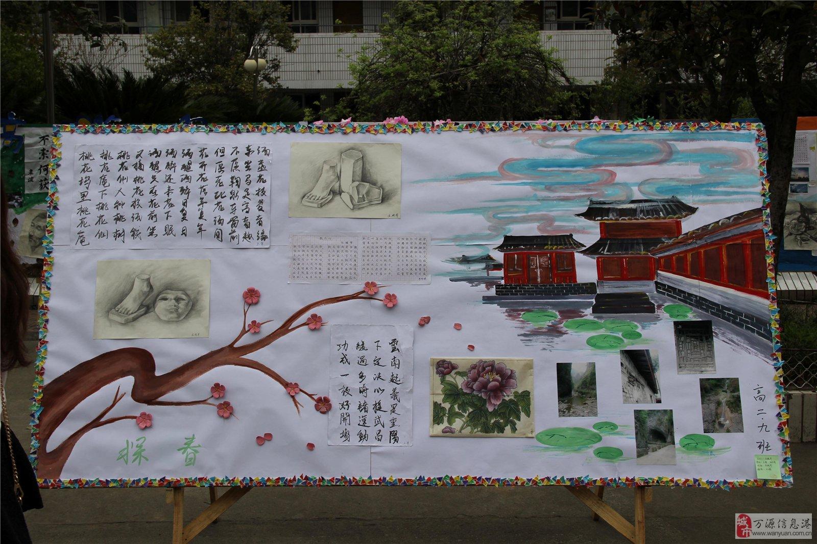 万源中学第12届科技艺术节展板(高二)