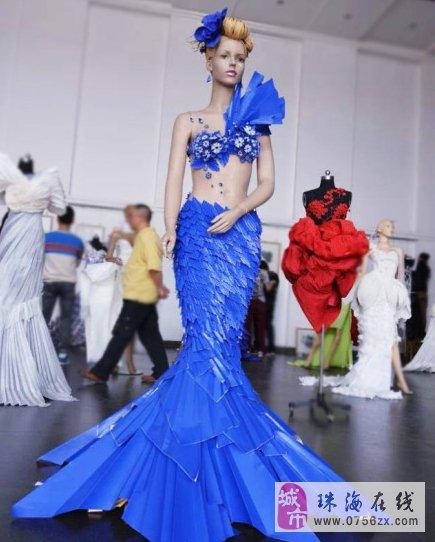 美美的折纸服装设计作品,赞一个吧