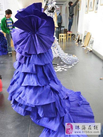 美美的折纸服装设计作品