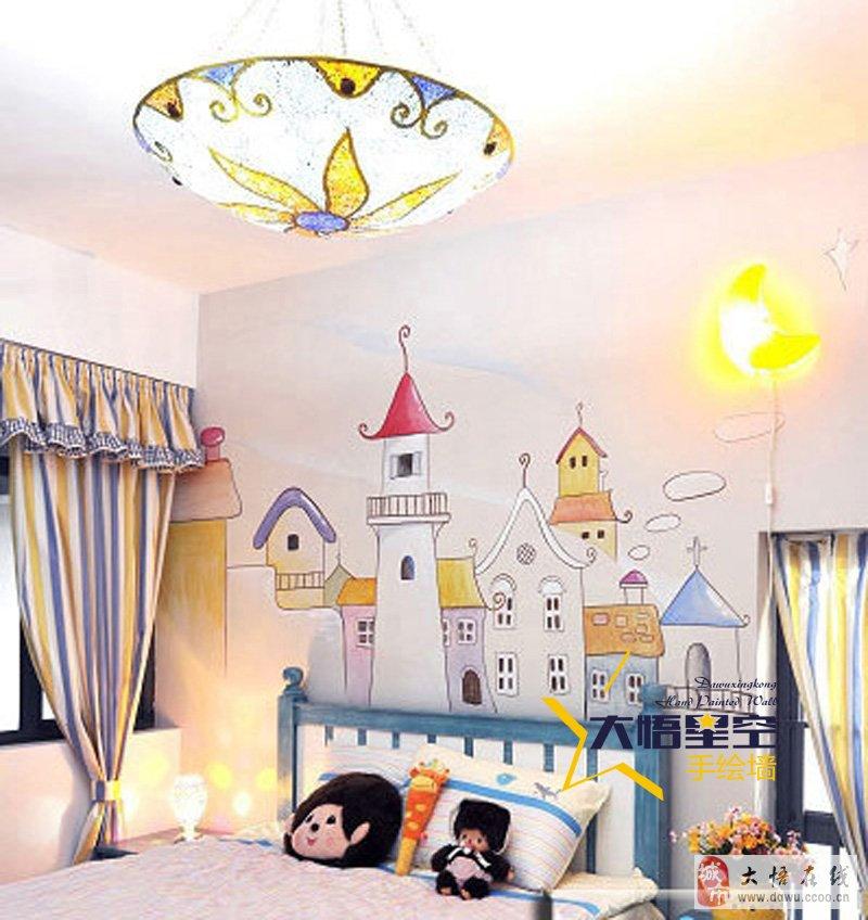 丰富多彩的儿童房墙体彩绘