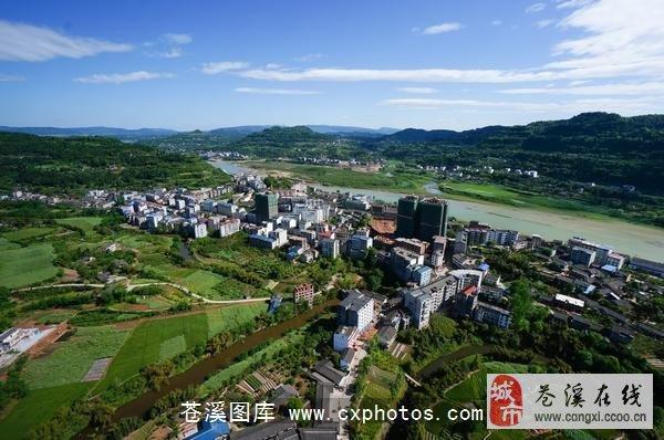 苍溪 元坝镇 俯视图