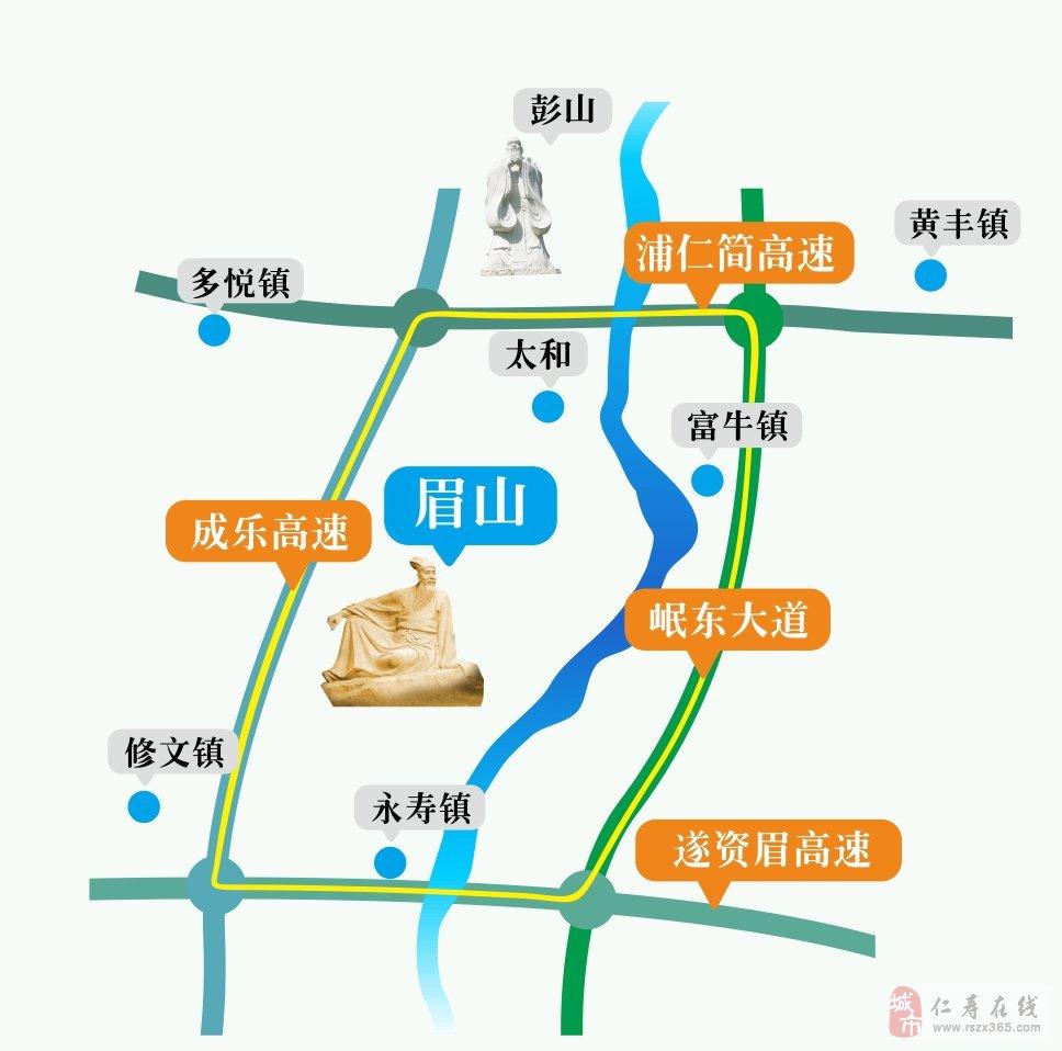 眉高速公路地图