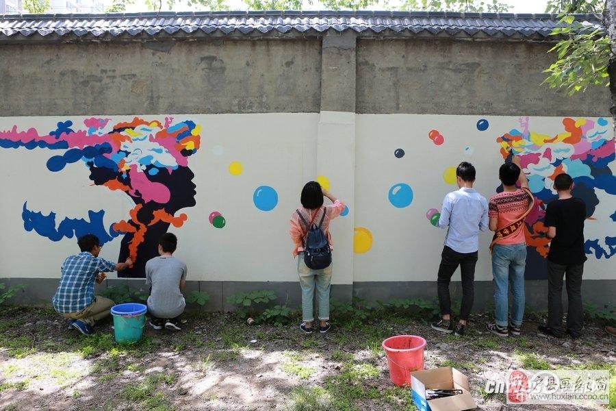 西安文理大学生手绘校园文化墙