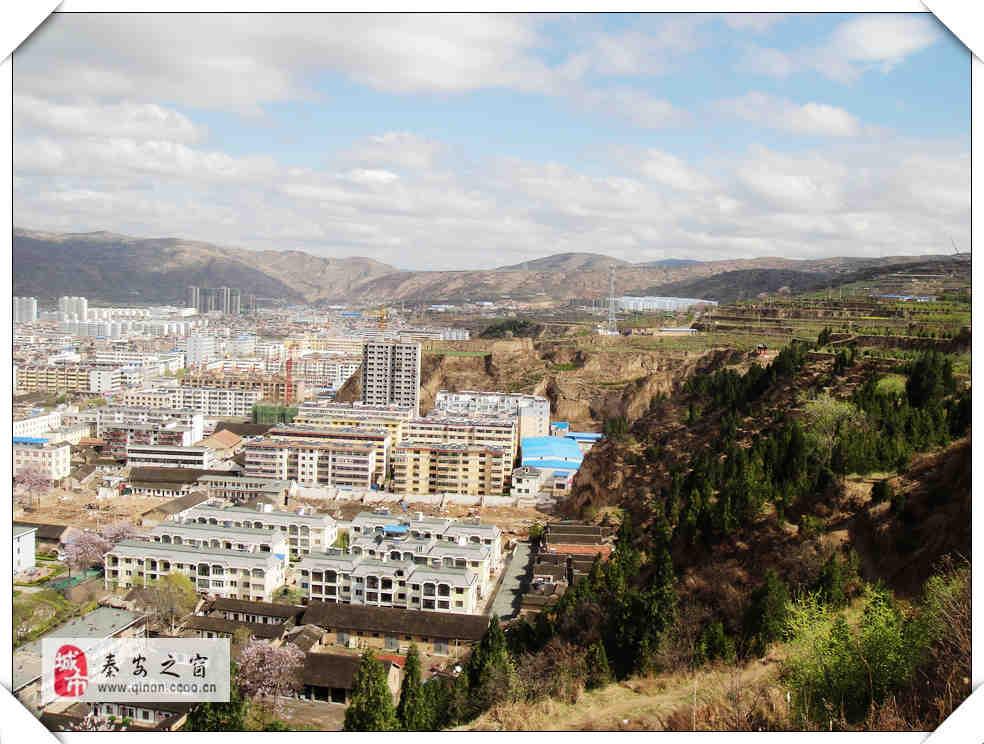 那天,雷雨之后的秦安县城掠影