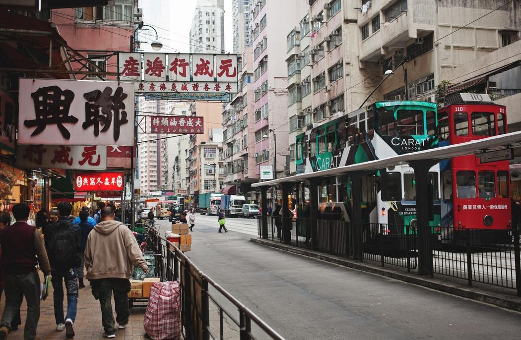 香港街道矢量图