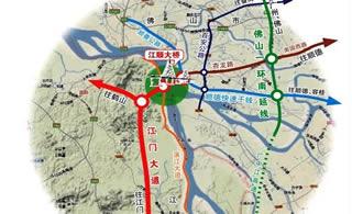 江顺大桥通车之后,鹤山去顺德的时间将大大缩短图片