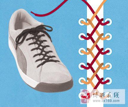 个性的系鞋带方法~让你的鞋子闪亮起来哈