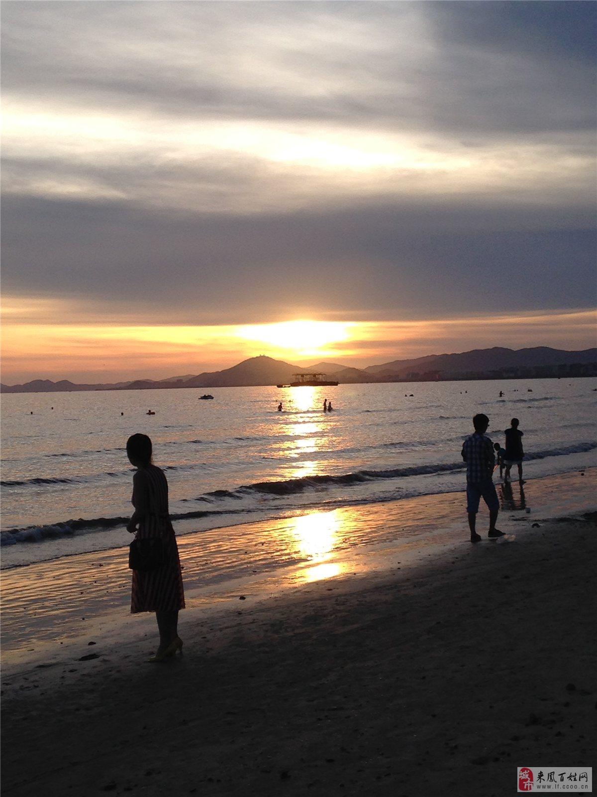 主题: 海边落日