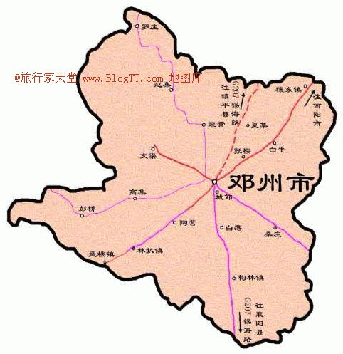 邓州市地图像一只展翅的鹰猛禽形象