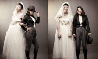 其实,婚纱照也可是试着这样拍。