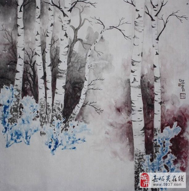 水墨淞雪画创始人剑一作品展将在嘉峪关在线创意文化