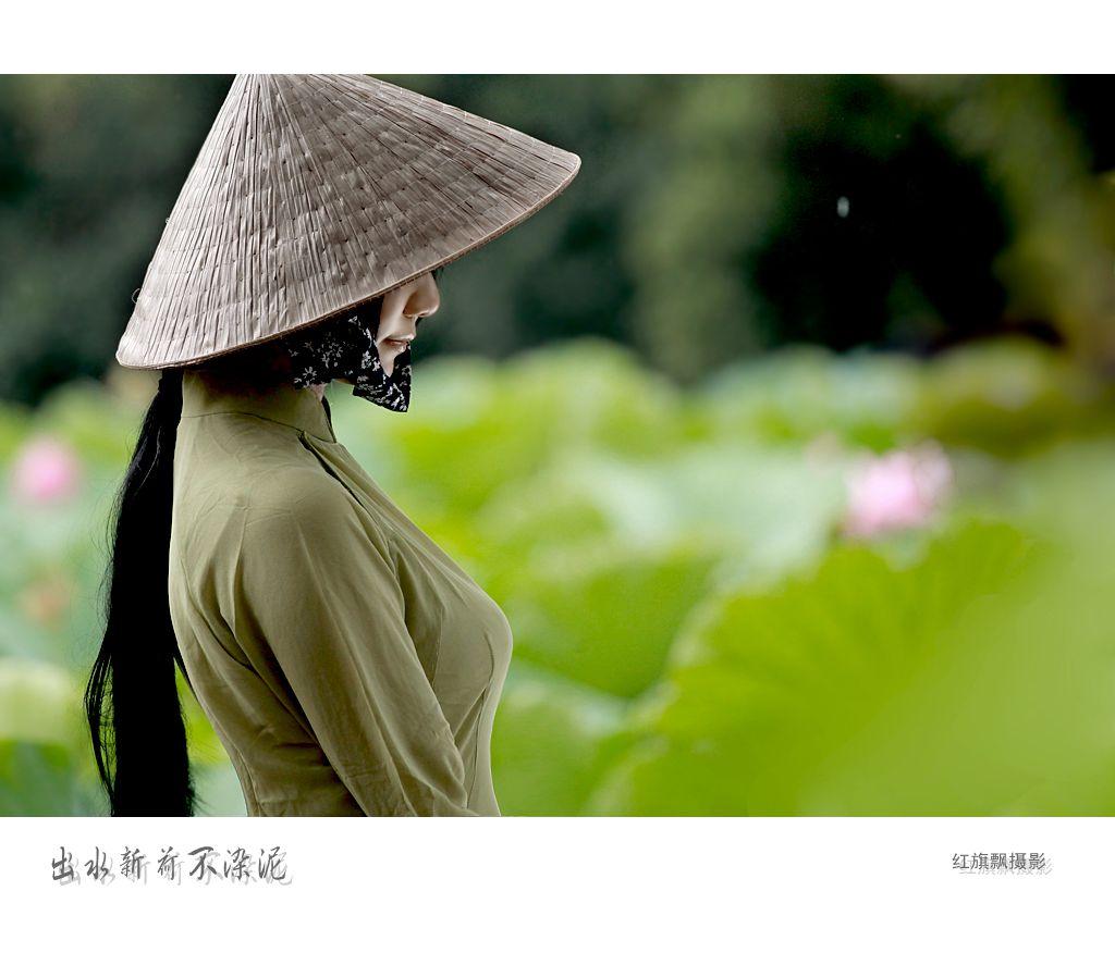出水新荷不染泥――――-偶遇越南装少女