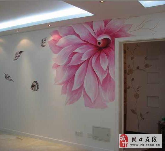 充满创意的手绘墙画制作出了属于每个家庭的私