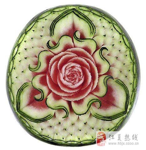 西瓜皮草花的切法图片图片