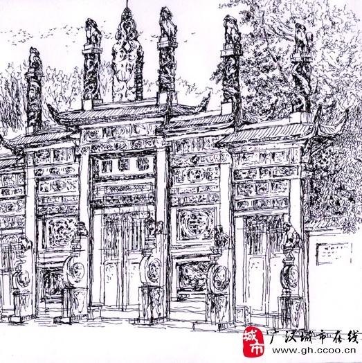 刘道学钢笔画