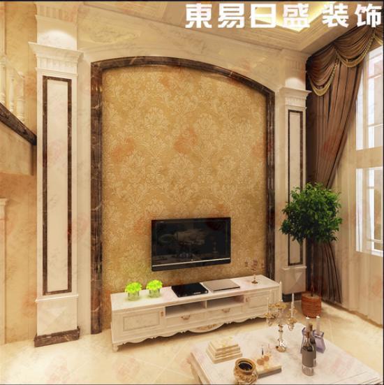 复式客厅欧式大理石背景墙