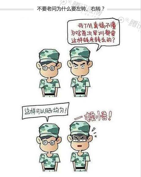 军训图片素材 漫画版