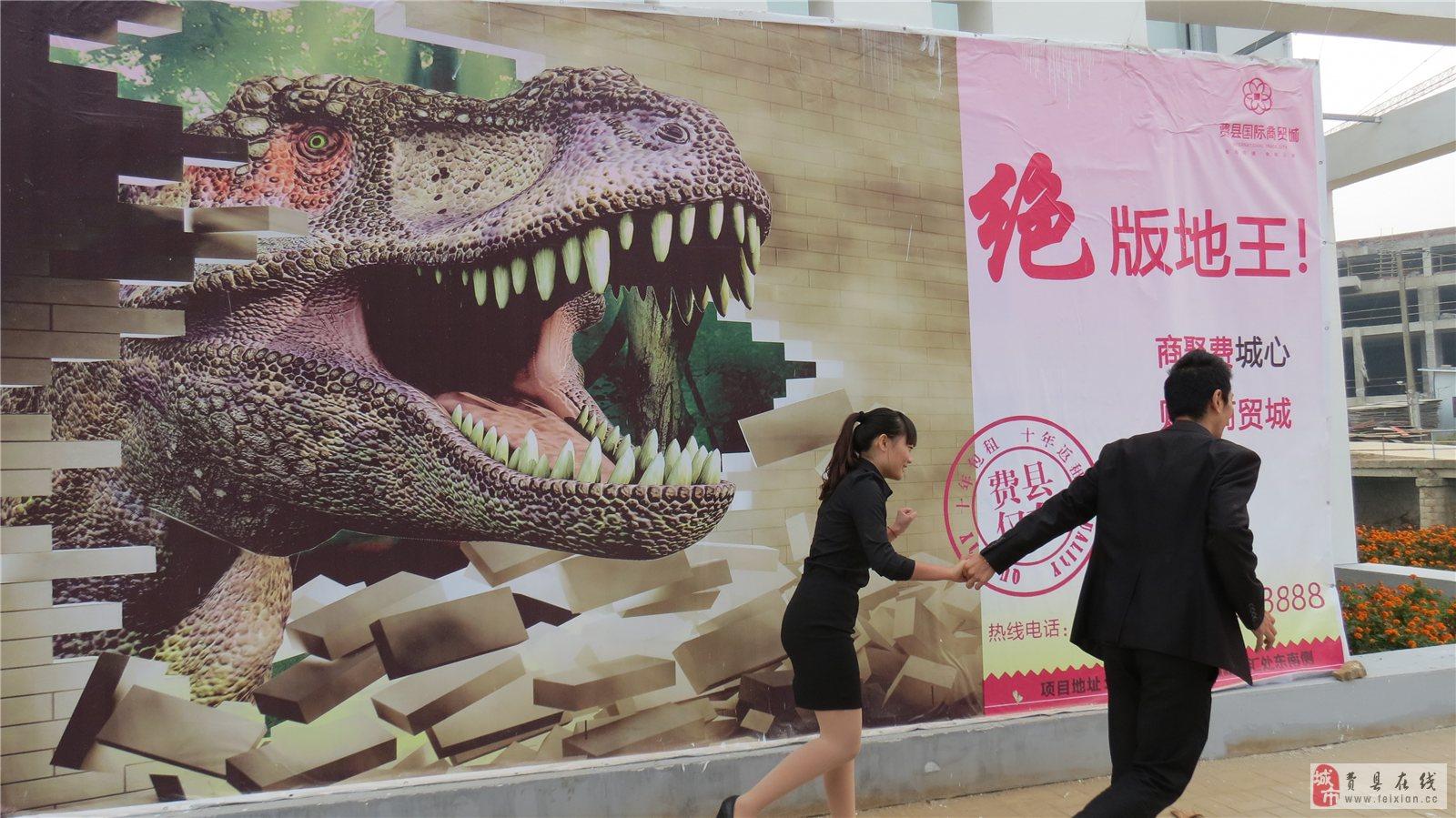 震撼3d立体画现身费县-国际商贸城邀您来拍照,房产