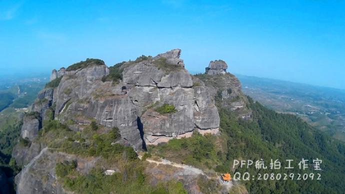 龙川县pfp航拍工作室 航拍龙川县霍山风景区