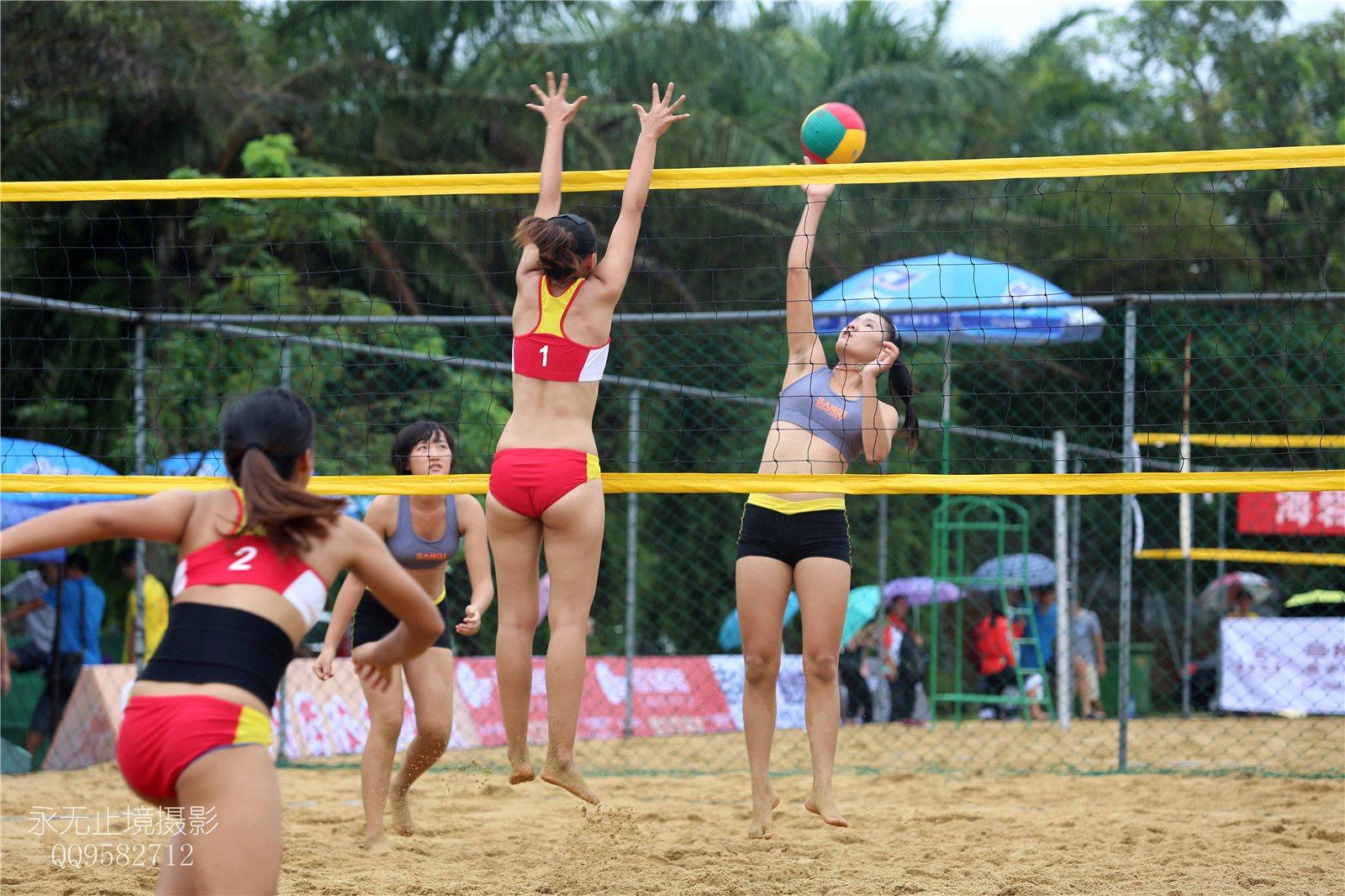 2014年海南省大,中学生沙滩排球锦标赛开赛第一天 精彩镜头