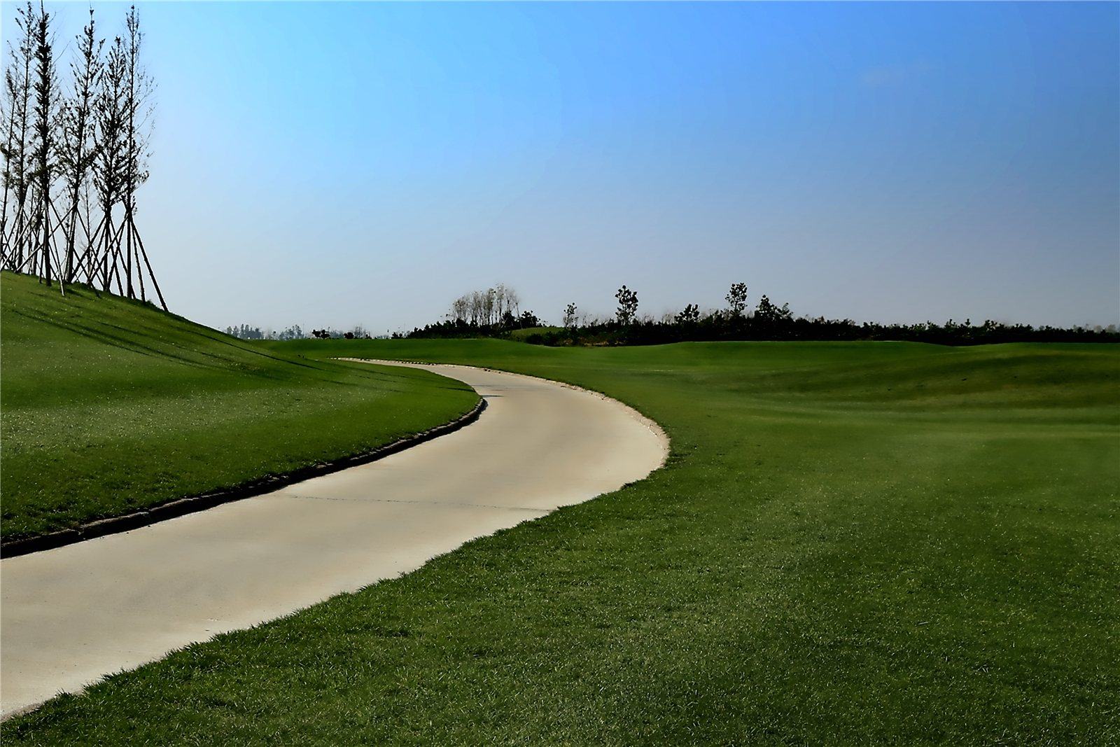 威海南海新区的高尔夫球场
