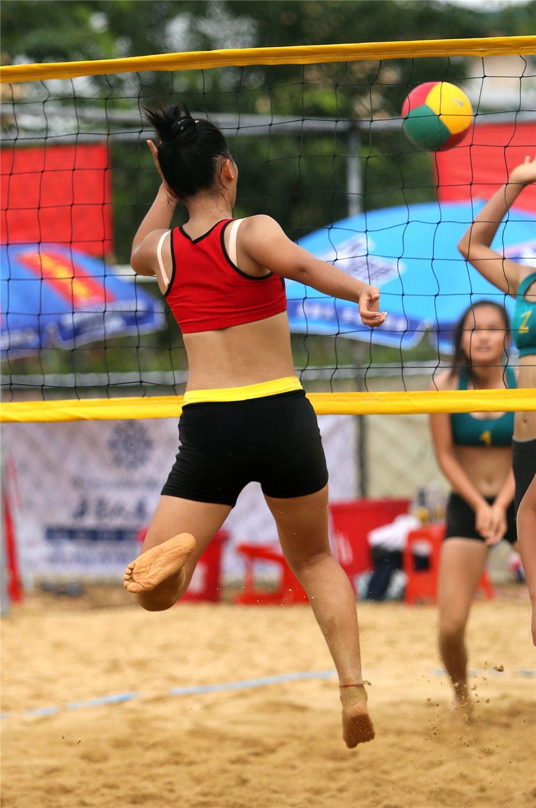 2014年海南省大,中学生沙滩排球锦标赛决赛日精彩镜头