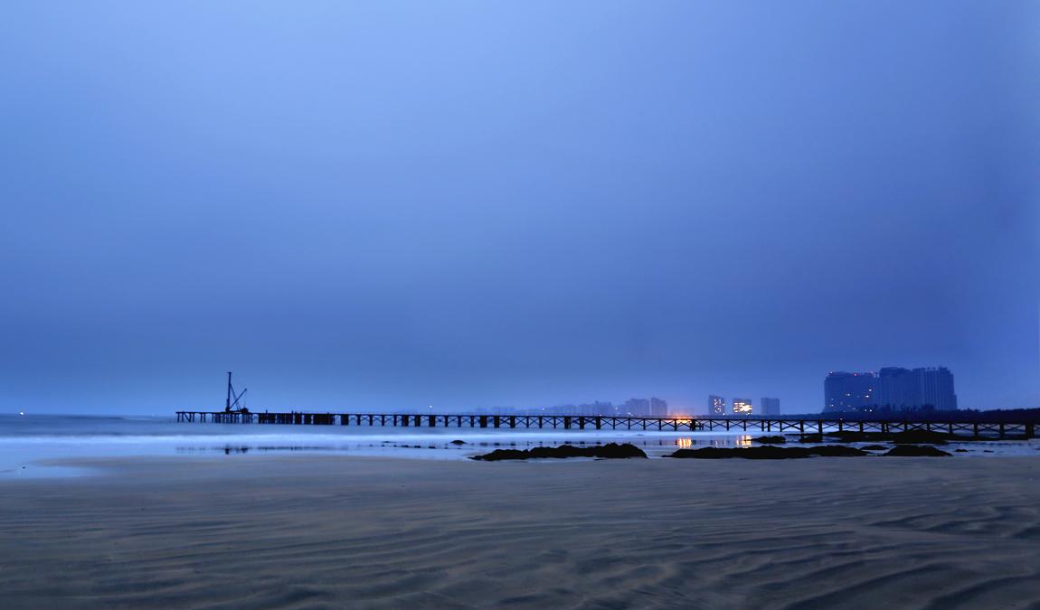 高清壁纸 海边木桥