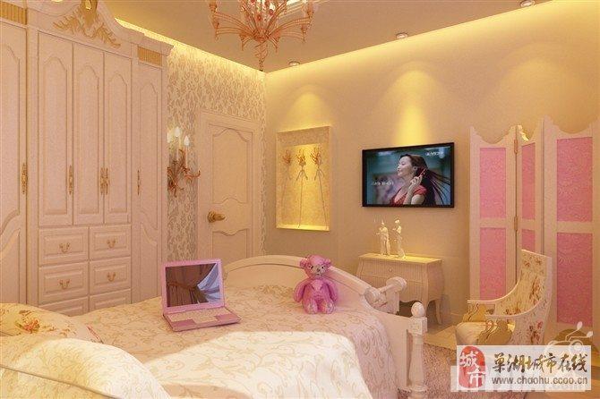 蓝色的墙面,可爱的小熊,柔软的大床,一切,都是女孩的最爱.