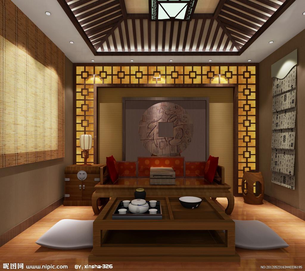20平米茶室设计效果图