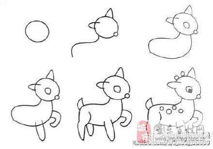 动物简笔画图,回家应付熊孩子必备技能get