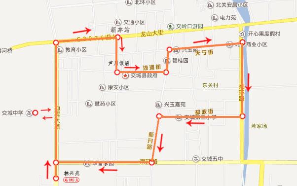 甘肃景泰县城地图