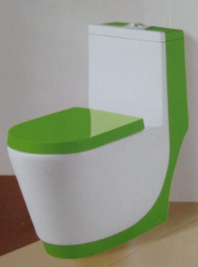 蒙娜丽莎座便器彩陶漩冲式绿色8048-8282