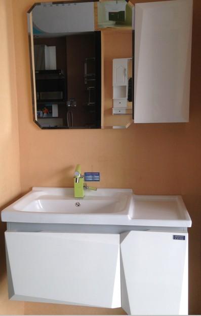 橡木浴室柜烤漆纯白色0153