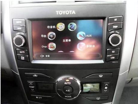 丰田卡罗拉原装美行易图通导航改DSA+凯立德或道道通地图的方