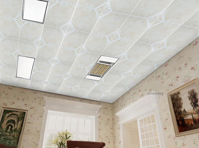集成吊顶铝扣板铝天花抗油污滚涂板厨房卫生间阳台天花吊
