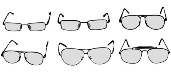 眼镜简笔画素材