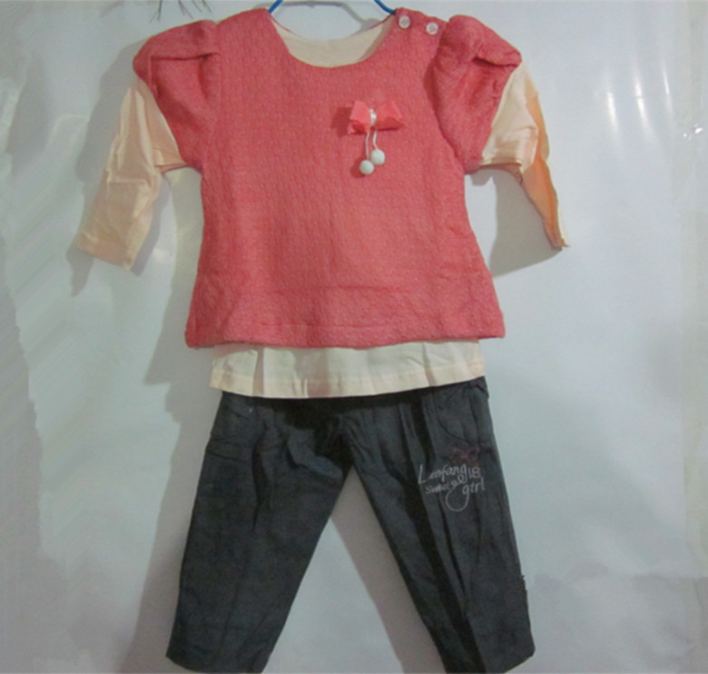 丽婴十八坊儿童春秋外出服韩版可爱假两件套