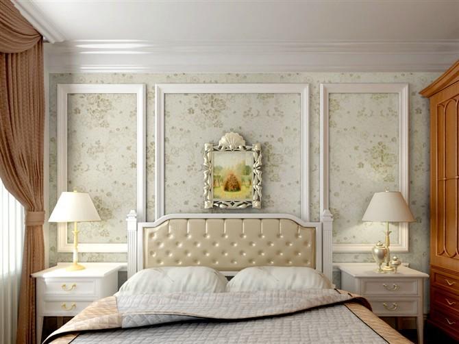 屋顶墙布效果图卧室