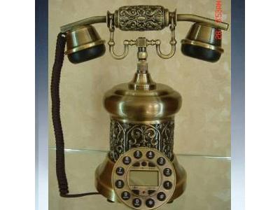 橡木纯铜电话,仿古,手绘系列,电话机,座机