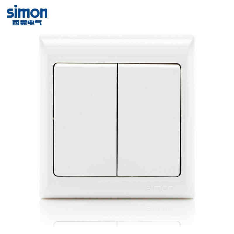 西蒙开关插座面板61系列两位双开单控开关j60398