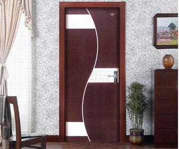 重庆星星木门套装门室内门烤漆复合门简约房门艺雕拼花1