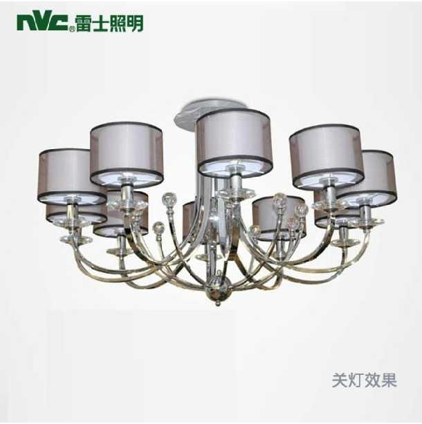 雷士照明现代欧式吊灯水晶灯客厅卧室书房8个头时尚创意灯饰灯具