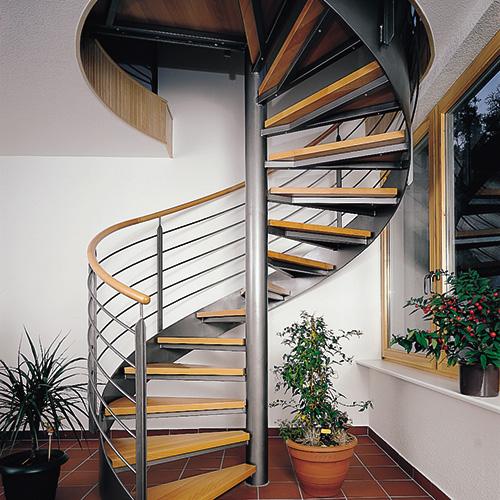 德国钢结构旋转梯-家用楼梯