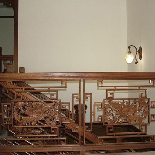 中式风格,别墅楼梯