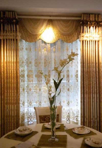 金色窗帘背景图素材