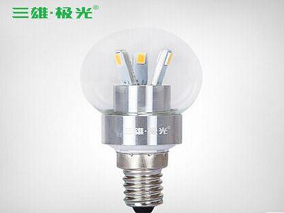 三雄极光耀星LED球泡灯E14.3W
