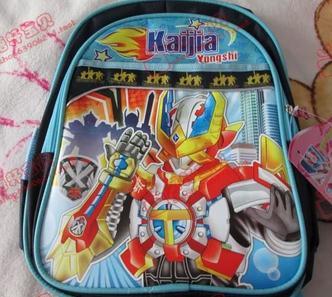 智友kt猫铠甲勇士图案书包幼儿园儿童背包男孩女孩包