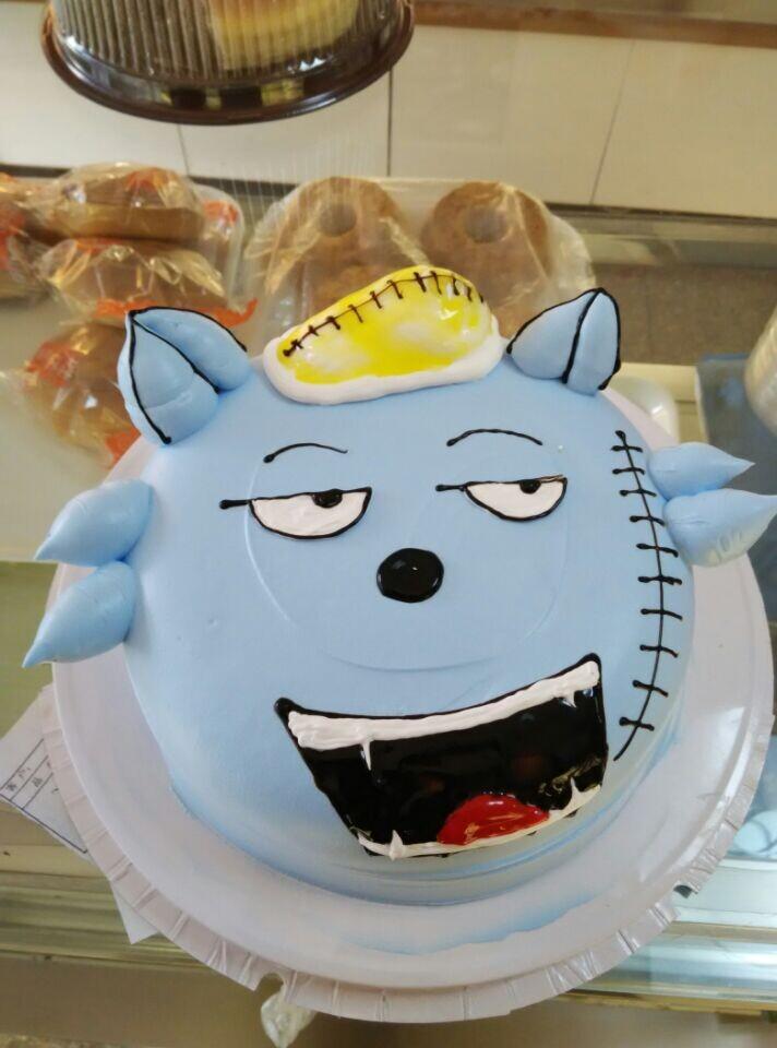 儿童卡通立体头像蛋糕